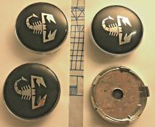 4 Pcs 60mm For Fiat Wheel Center Caps Emblems Rim Caps Hub Caps Badges Scorpion
