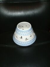 Gourmet Mickey Ceramic Candle Jar Shade Blue & White Mickey Silhouettes