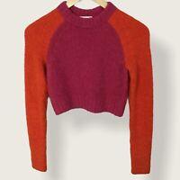 Aritzia Wilfred Free Alpaca Merino Wool Sweater Womens Size XXS Pink Orange Knit
