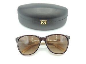 Escada SES 204 Brown Gradient Brown Sunglasses 59 19 140 & Case