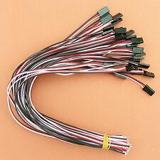 50 x 30cm RC Futaba Servo Connector Extension Lead 3pin Male cable