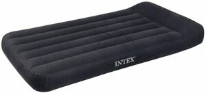 "Intex Airbed "" Pillowrest Classic "" Blue Air Mattress Guest Bed Inflatable"