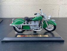 Vtg Maisto Indian Four Green Motorcycle