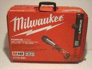 """Milwaukee 2773-22L 1/2"""" - 1"""" M18 Force Logic Press Tool Kit NISB FREE SHIPPING!!"""