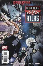 Agents of Atlas #1 Comic Book - Dark Reign Signed by Jeff Parker w/ Certificate