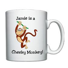 Cheeky Monkey, Naughty Boy - Personalised Mug / Cup