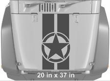 Star Military 2 Stripes Vinyl Hood Decal Sticker Fits Jeep Wrangler TJ LJ JK