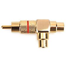 Dynavox Cinchkupplung vergoldet, 1 x Stecker, 2 x Buchse, Cinch Adapter Chinch