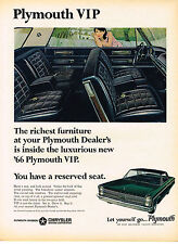 Vintage 1966 Magazine Ad Plymouth If You Want Luxury VIP Is Just The Ticket