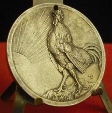 Médaille Coq gaulois,Rooster Cock Animal La Sarthe 51 mm 44 g Medal 铜牌公鸡