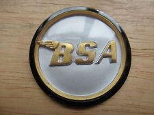 "60-4171 BSA A50 A65 A75 1 3/4"" SILVER / GOLD / BLACK TANK CENTRE ROUND BADGE"
