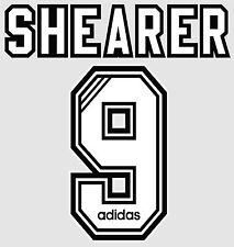 Shearer 9 1996-1997 Home Football Name set for Newcastle United Shirt