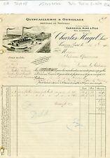 Dépt 08- Vivier au Court - Belle Entête Articles de Voitures Quincaillerie 1910