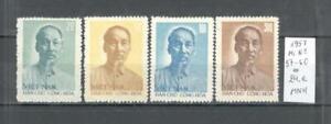 Vietnam 1957, Mi No 57- 60, 67 Birthday of President Ho Chi Minh, MNH
