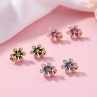 Lovely Alloy Flower Bee Stud Earrings For Women Girl Ear Stud Jewelry s t