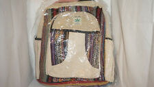 Backpack Bag Recycle Hemp Eco-Friendly Multicolor THC FREE Handmade