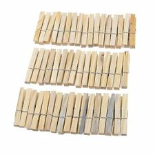 Laundry Wooden Clothes Pins Pegs Hanging Clips Clothespin 52 Pcs HY