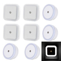 4-10 Pack Plug in LED Night Light Wall Lamp with Dusk to Dawn Sensor White 0.5w