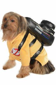 Ghostbusters Dog Costume Pet Clothes Inflatable Backpack Dress Up SM MD LG XL
