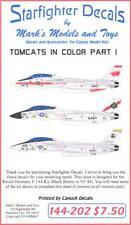 Starfighter Decals 1/144 GRUMMAN F-14 TOMCAT FIGHTERS IN COLOR