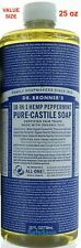 25 oz Dr. Bronners Peppermint Soap Castile Liquid EXPEDITED SHIPPING SAME DAY