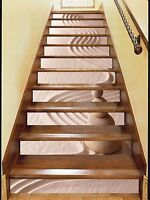Details about  /3D Moon mushroom 35 Stair Risers Decoration Photo Mural Vinyl Decal Wallpaper UK