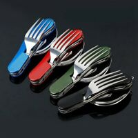 Travel Outdoor Tableware Fork/Spoon/Knife Camping Pocket Kits Folding Forks