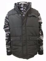 Ecko Unltd Men's 2PC Set Black Camo Vest and Full-Zip Hoodie (Retail $88)