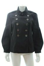 Burberry Trench-Style Short Coat / Black