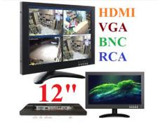 MONITOR LCD 12'' POLLICI TFT VIDEOSORVEGLIANZA VGA BNC HDMI RCA TELECAMERE DVR