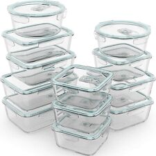 Razab 24 Piece Glass Food Storage Containers w/Airtight Lids - Microwave/Oven...
