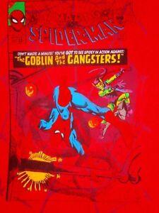 SPIDERMAN RETRO VTG 2010 MARVEL COMICS COVER T-Shirt Men S SPIDERVERSE GOBLIN