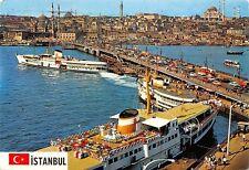 Turkey Istanbul Galata Bridge Vintage Cars Auto Ship Schiff, New Mosque