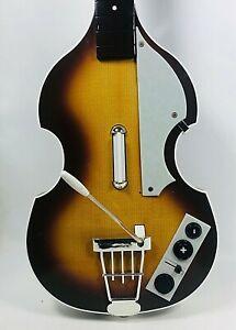 Rockband Wii The Beatles Rock Band Hofner Bass Guitar Paul McCartney No Dongle