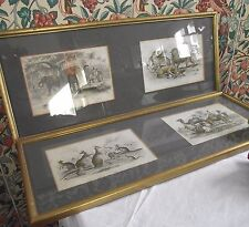 PAIR ANTIQUE PRINTS ELEPHANT LION KANGAROO CAMEL J STEWART ENGRAVER 1860s ANIMAL