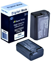 Digital Mate NP-FW50 1800mAh Battery x2 for Sony a6500 a6400 a6300 a6000 a5100