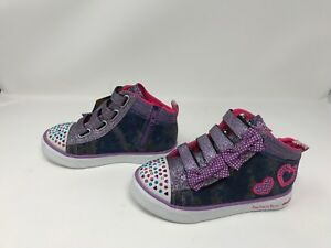 Girls Toddlers Skechers(10671N)TWINKLE TOES TWINKLE BREEZE DENIM LOVE Shoes411o
