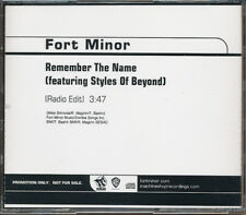Fort Minor Remember the Name / Where'd You Go RARE promo CD singles w/ edits '05