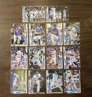 2020 Topps Series 1 Chicago Cubs Lot Nico Hoerner RC Adbert Alzolay RC Rizzo
