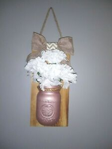 Rose Mason Jar Wall Sconce