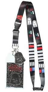 """Star Wars Darth Vader ID Lanyard Badge Holder With 1.5"""" Rubber Charm Pendant"""