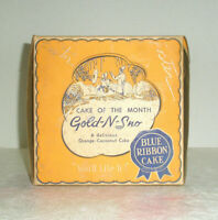 Vintage Advertising BLUE RIBBON CAKE CO Box Pressed Paper Gold-N-Sno Cake