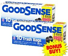 """Large Trash Yard Bags 30 Gallon Garbage Can Liners 33"""" x 30 x .65 mil BLACK Flap"""