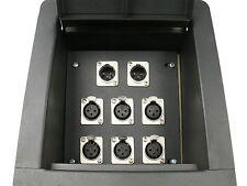 Elite Core Recessed Stage Floor Box w/6 XLR Female & 2 XLR Male Mic Connectors