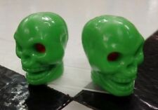 Lime GREEN Skull Valve Caps for Muscle Bike Old School BMX Bicycle
