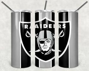 20 oz Stainless Steel Skinny Tumbler Las Vegas Raiders
