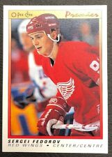 1990-91 OPC Premier - #30 Sergei Fedorov RC - Detroit Red Wings