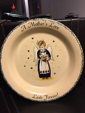 "Home & Garden Party USA  ""A MOTHER'S LOVE LASTS FOREVER"" PIE PLATE"