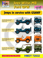 H-Model Decals 1/72 Willys Jeep MB/Ford GPW: USAAF Jeeps # 72032