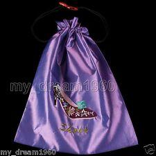 Accessory Purple Silk Satin Embroider High-Heel Shoe CLOTHES Bag Shoes Purse